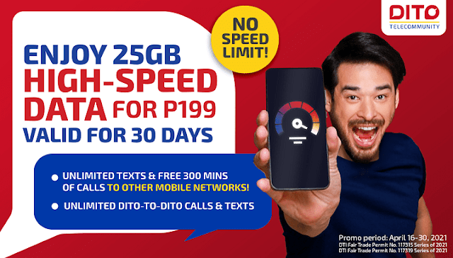 Enjoy 25GB High-Speed Data for Only 199 Pesos with DITO