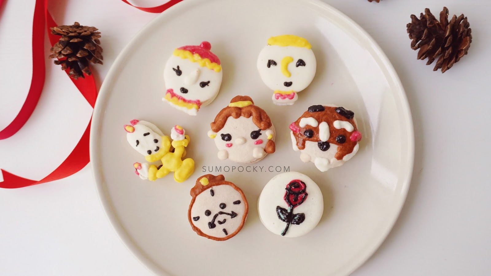 Beauty and the Beast Macarons