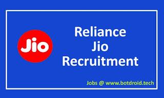 Reliance Jio Recruitment 2020 Apply Online, Jio Job Vacancies