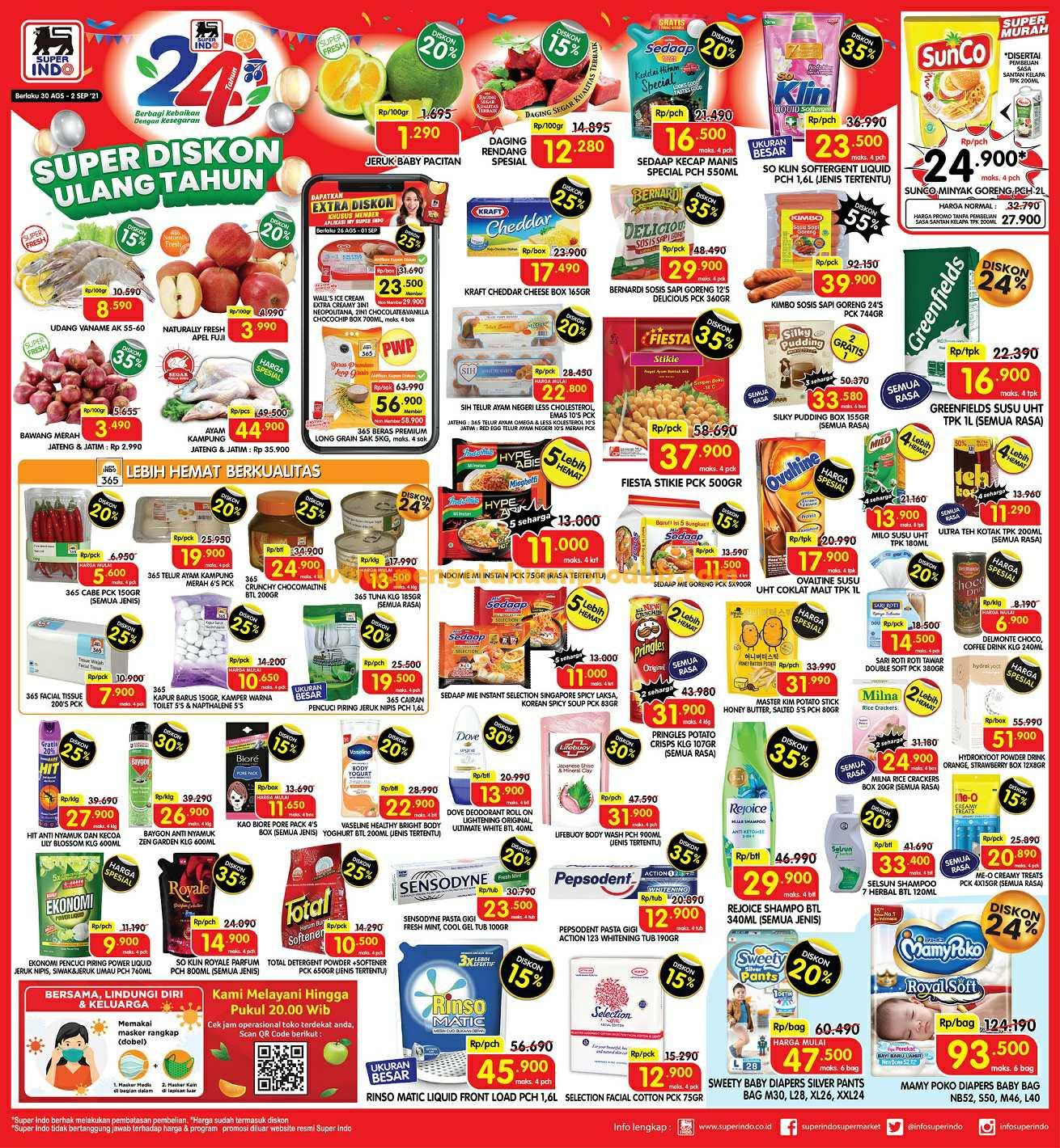 Katalog Promo Superindo Weekday Periode 30 Agustus - 2 Sptember 2021