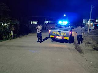 Personel Polsek Malua Gencar Melaksanakan Patroli Blue Light Untuk Cegah Terjadinya Gangguan Kamtibmas