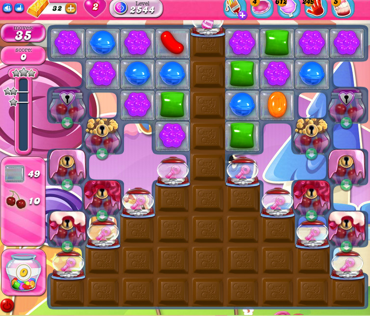 Candy Crush Saga level 2544