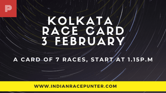 Kolkata Race Card 3 February
