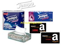 """""""Riparti alla grande con Tempo"""" : vinci 114 buoni Amazon da 100 euro e Gift Card Mediaworld da 1500 euro"""