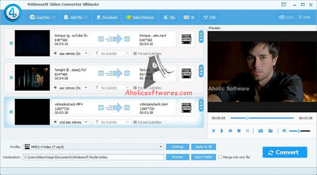 4Videosoft Video Converter Ultimate is best and easy ultimate video converter, which can convert any video to other video, convert homemade DVD files.