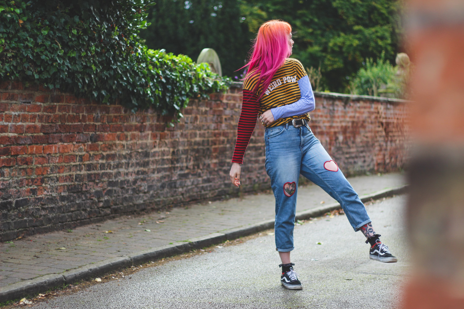 Alternative Style Blogger Foxxtailz in Monki Heart Jeans