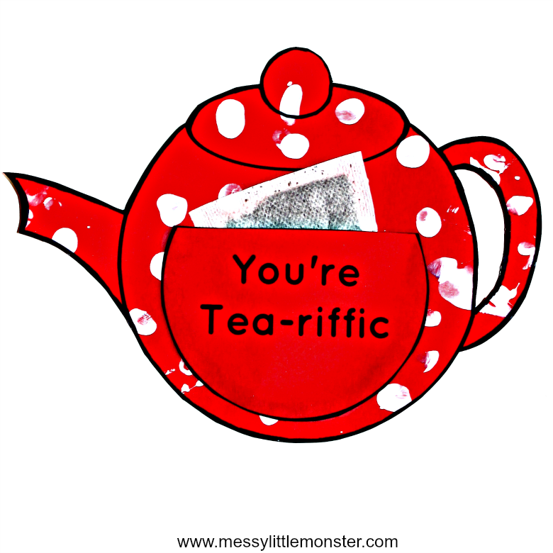 image about Teapot Template Free Printable named Youre Tea-riffic teapot craft - Free of charge printable teapot