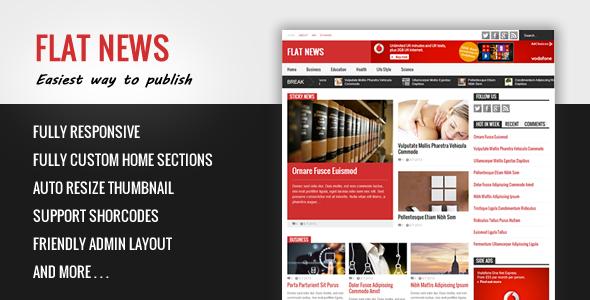 flat news blogger template
