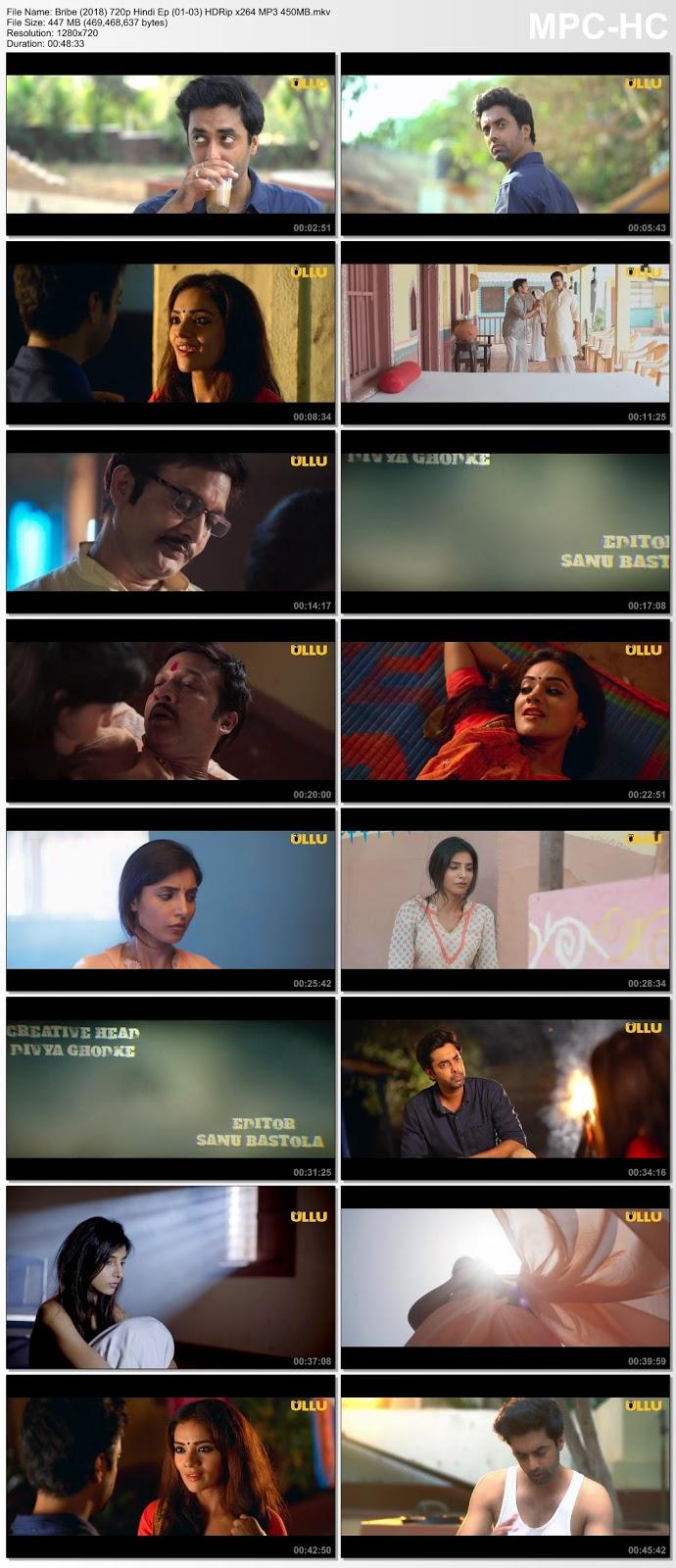 [18+] Bribe (2018) Ullu Originals 720p Hindi Ep (01-03) HDRip – 450MB Desirehub
