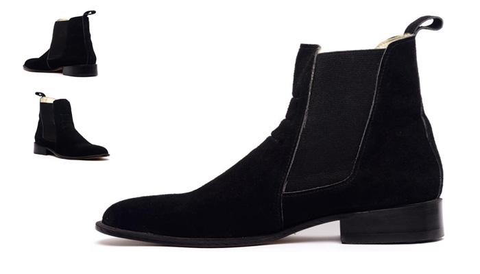 Chelsea boots preta moderna