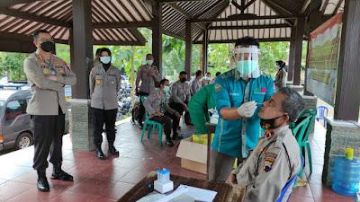 598 Personel Polresta Banyumas Jalani Tes Swab Antigen