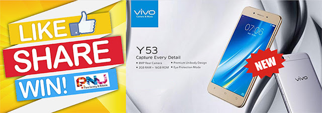 Like & Share to Win Vivo Y53