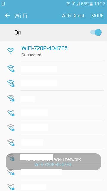 Sinal WiFi do drone da Multilaser