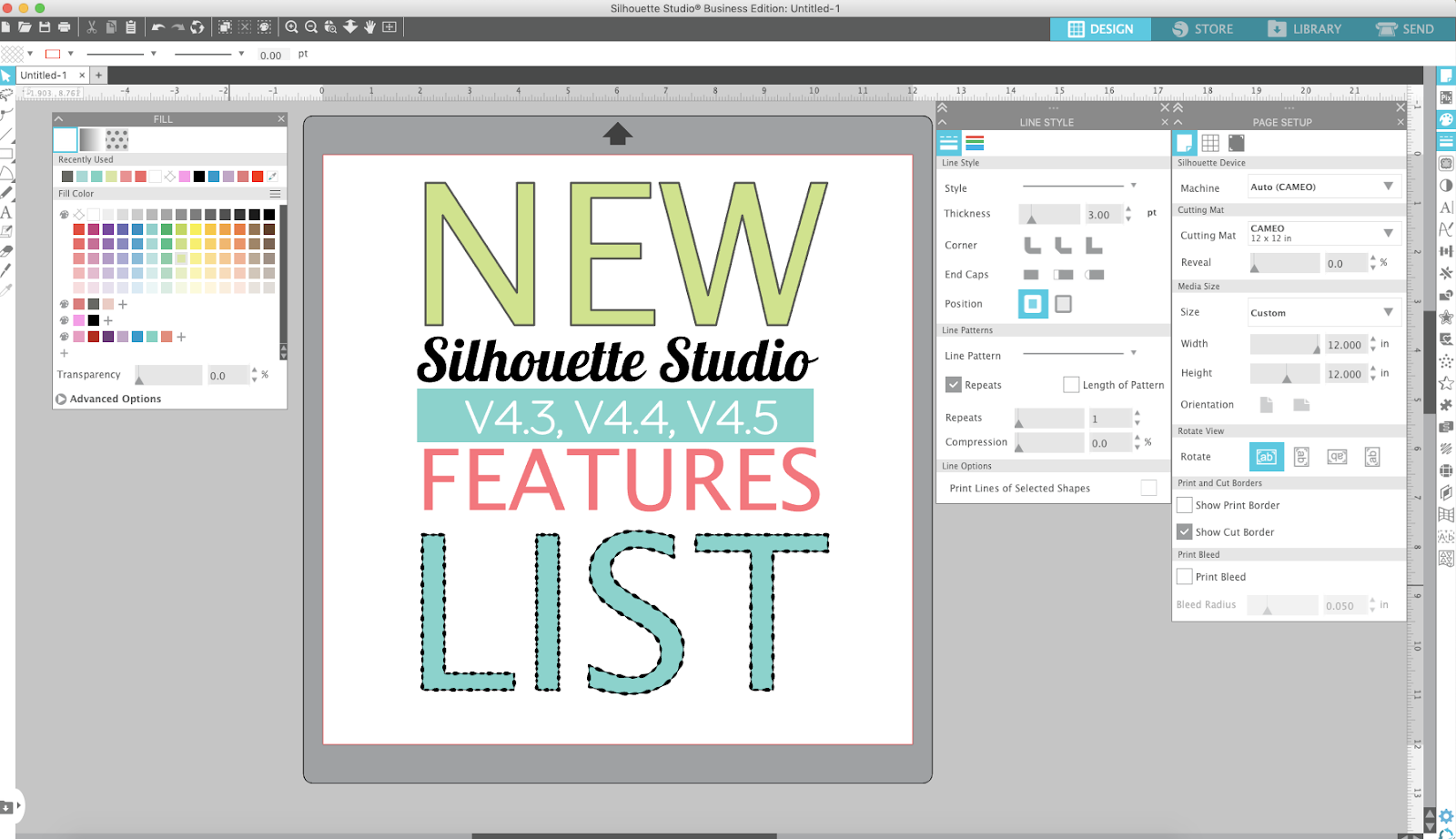 New Silhouette Studio V4 3 Features List Silhouette School