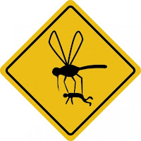 mosquito hazard sign