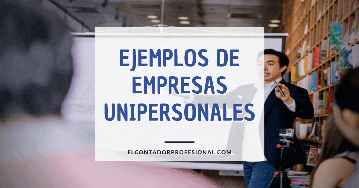 empresas unipersonales ejemplos