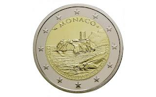 Monaco 2 euroa kolikko 2015