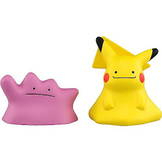 Ditto & Dittochu Pikachu figures set Takara Tomy Monster Collection MONCOLLE EX ESP_19