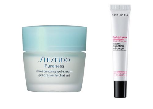 Shisheido Pureness y Sephora gel cream
