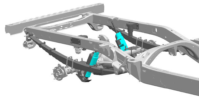 3D-printed parts for Chevrolet Silverado off-road race truck.