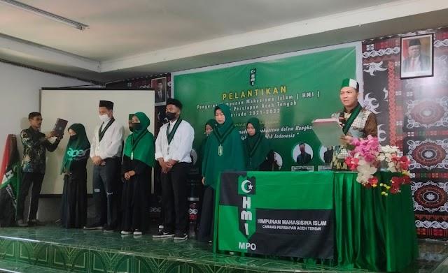 HMI Cabang Aceh Tengah Gelar Pelantikan Pengurus