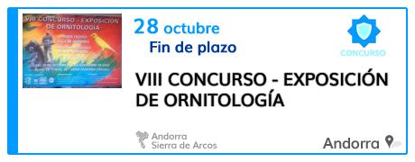 VIII Concurso - Exposición de Ornitología en Andorra
