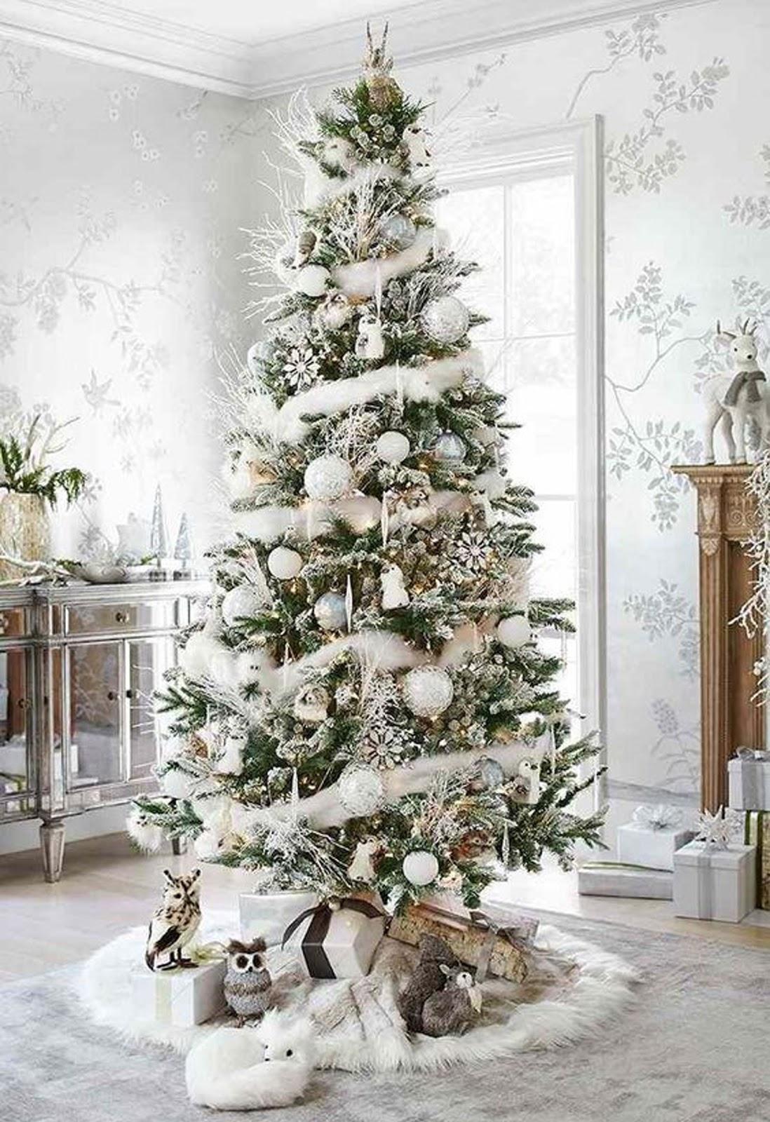 Absolutely Stunning White Christmas Tree Decorating Idea