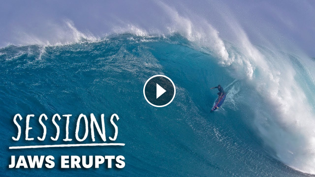 Kai Ian And The Crew Surf The First Huge Swell of The Winter At Jaws Sessions