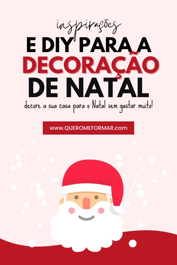 Imagem de Divulgação para Pinterest Inspirações e DIY para a Decoração de Natal Sem Gastar Muito