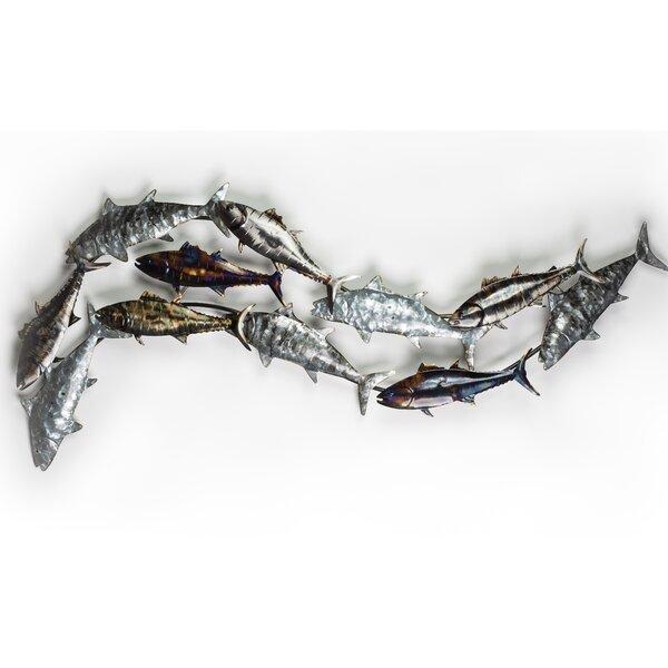 Ocean Fish Metal Wall Decor