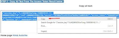 copy kode token