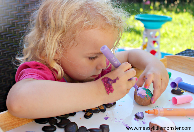 pebble painting for kids