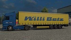 Mercedes Actros Willi Betz skin + trailer