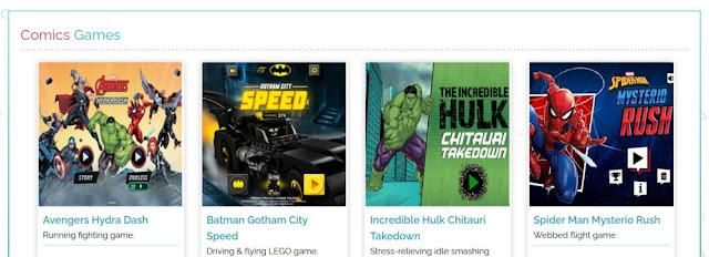 Game online tema komik