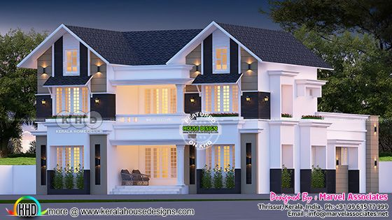 Beautiful sloping roof house 2342 sq-ft