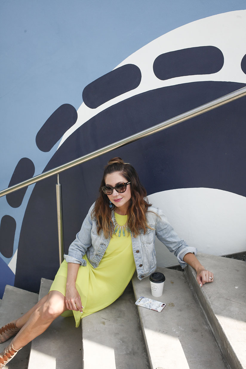 Amy West visiting the Wynwood Walls