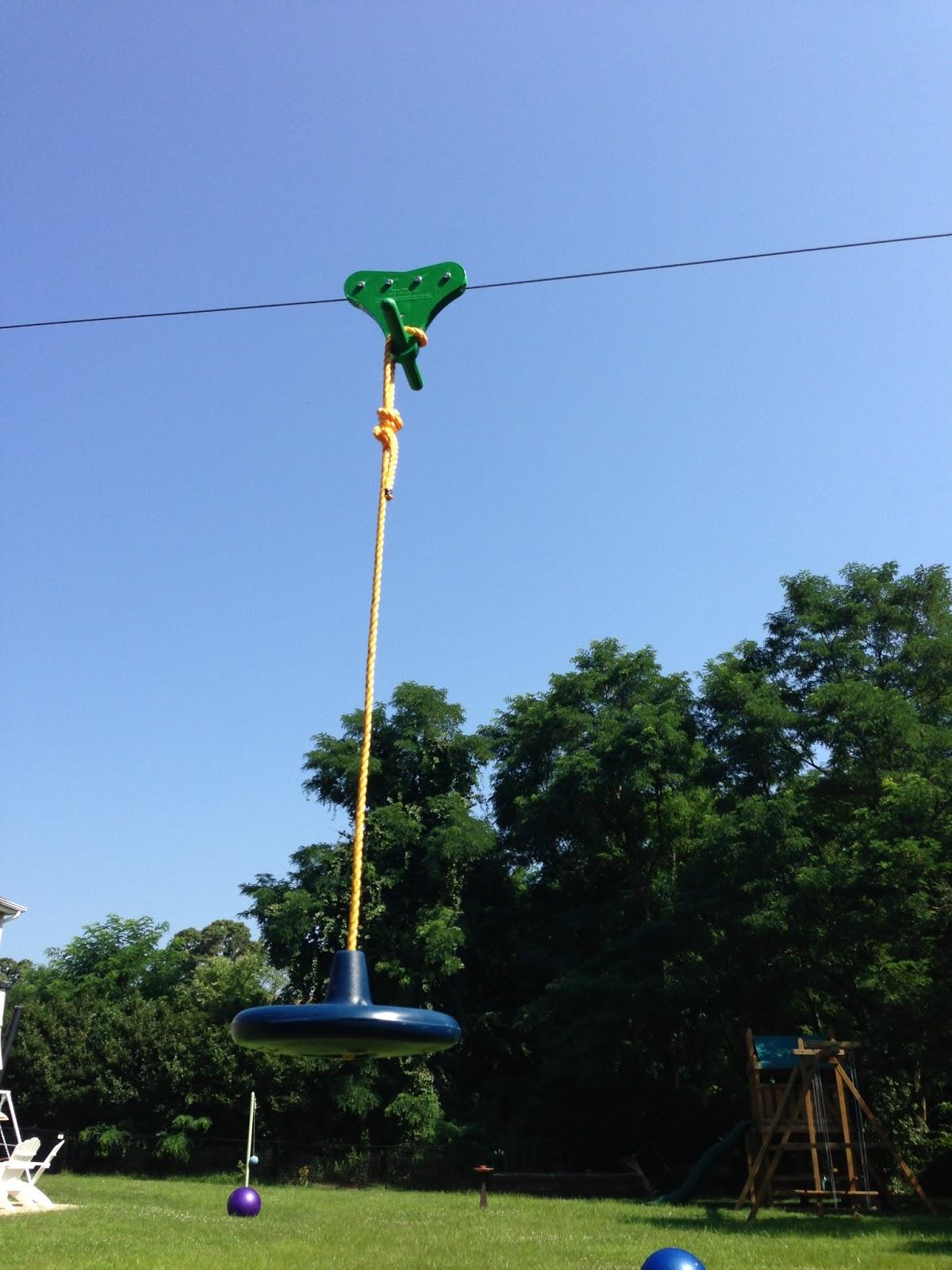 Backyard Zip Line: Zip-Line Build Pics: posts, chain, seat ...