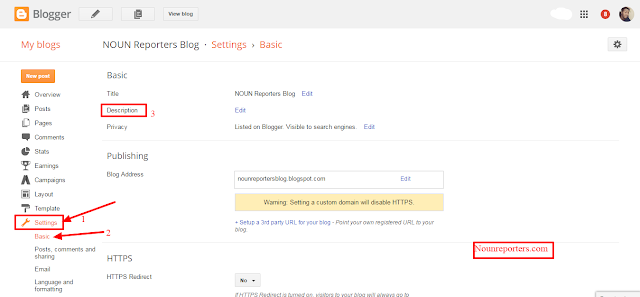 How to Add a Blog Description on a Blogger Blog