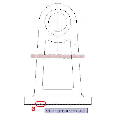 contoh gambar command extend autocad
