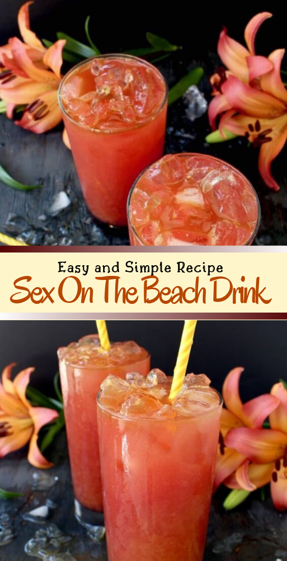 Sex On The Beach Drink  #healthydrink #easyrecipe #cocktail #smoothie