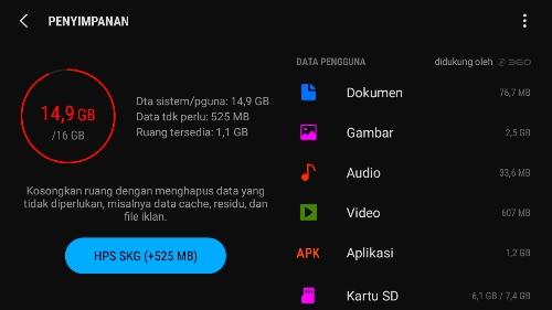 Cara hemat memori internal smartphone