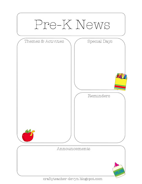 preknewsletter Bee Monthly Newsletter Template on human resource, preschool printables, girl scout, free editable one page, for work, samples business,