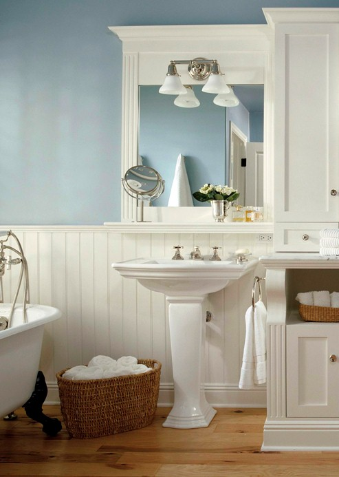 Home Decorating Design: Bathrooms With Wainscoting