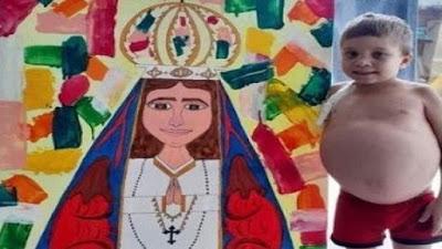 imagem de Daniel Neves e a pintura de Nossa Senhora