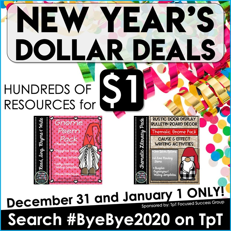 Do not miss out on hundreds of Dollar Deals during the #ByeBye2020 sale on TpT!