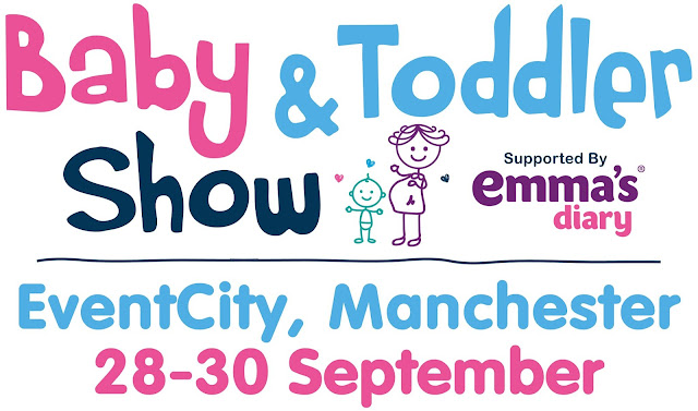 banner of text for the baby and toddler show in Manchester 2018
