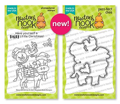 Dairy Christmas Stamp Set and Die Set by Newton's Nook Designs