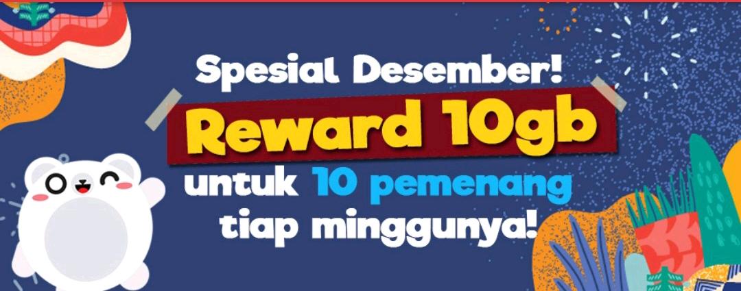 Roli Event Reward Data Gratis 10GB Desember