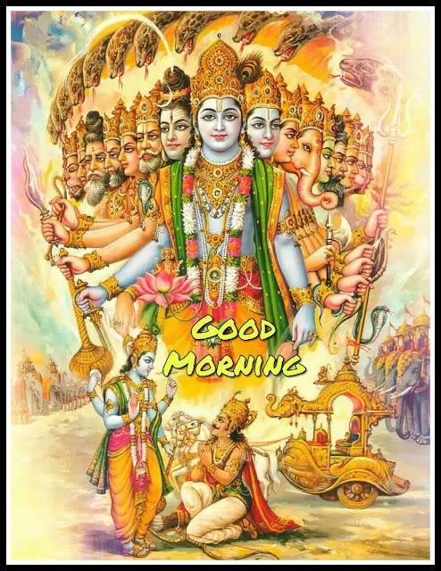 lord krishna good morning image