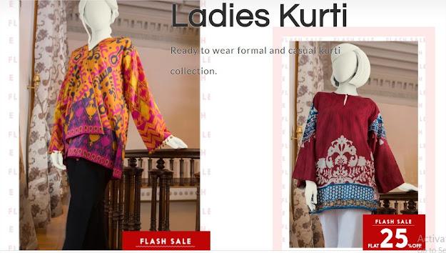 J. Jamshed ladies kurtis sale offers
